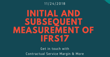 initial and subsequent measurement of IFRS17